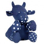 Stuffed toys: Jeanne, the cow – Upcycling-Design from France: Marron Rouge