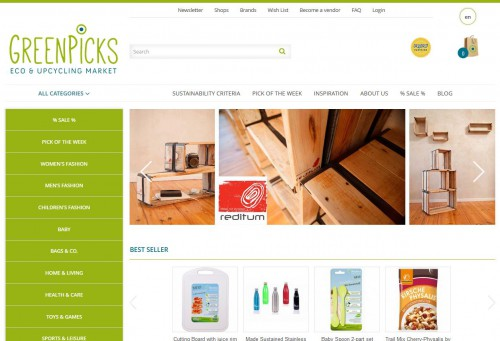 Relaunch: Homepage Greenpicks - Eco & Upcycling Market
