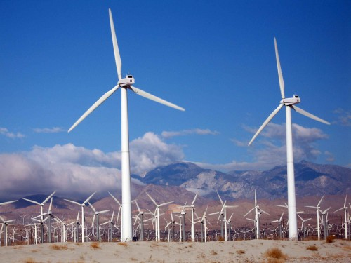 Climate Protection with Green Energy by Wind Turbines