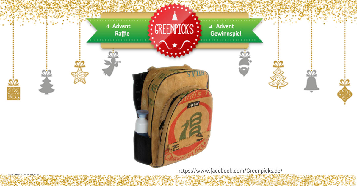 Christmas Raffle 4. Advent: win an upcycled backpack by ragbag