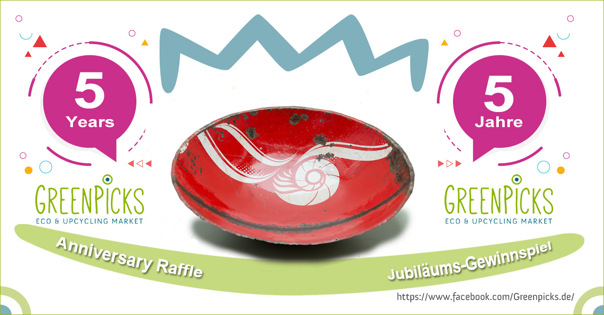 Recycling Raffle: Red upcycled bowl by Swane Design