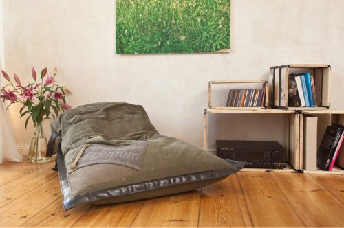 upcycled seating furniture - beanbag chair