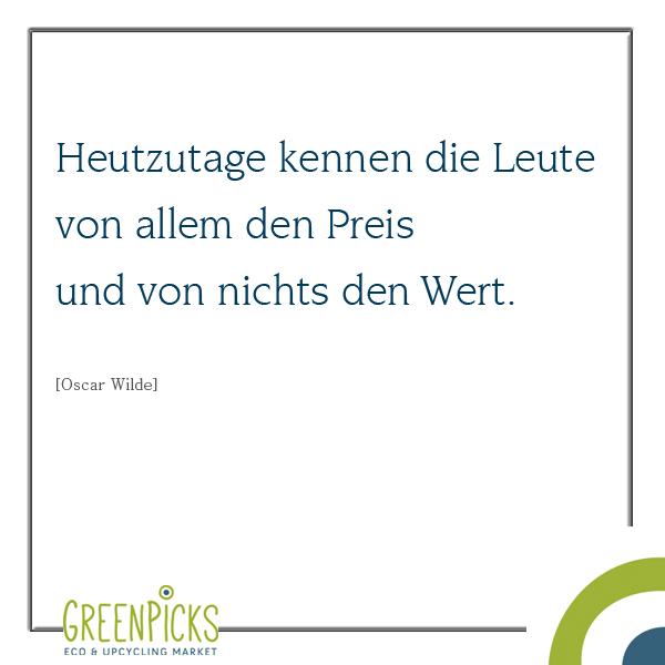 Oscar Wilde: Preis versus Wert