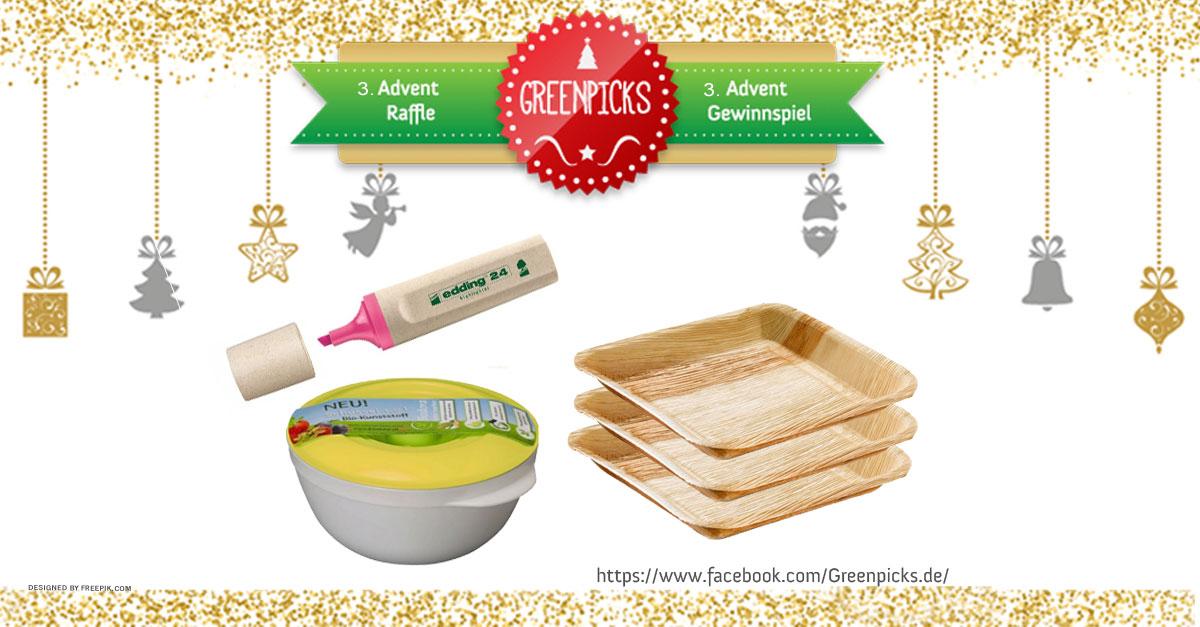 Gewinnspiel 3. Advent: Öko Produkte aus umweltfreundlichen Materialien für Haushalt, Picknick & Büro