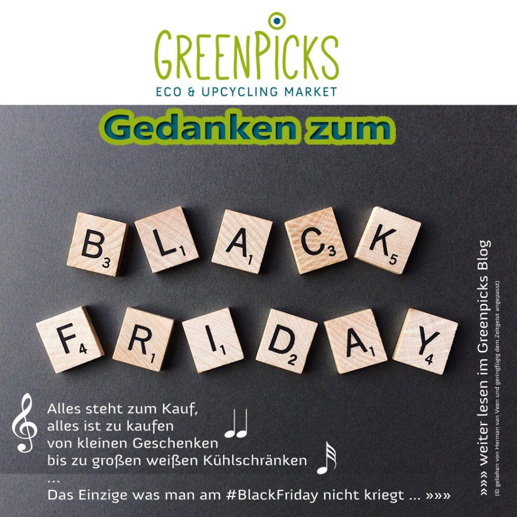 Grüne Gedanken zum Black Friday